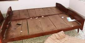 Double bed of pia sal wood