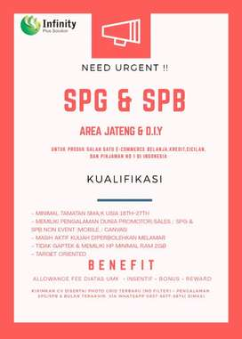 Dibutuhkan segera spg&spb
