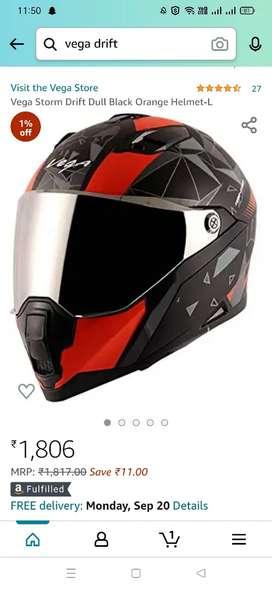 Vega drift series box pack helmet.
