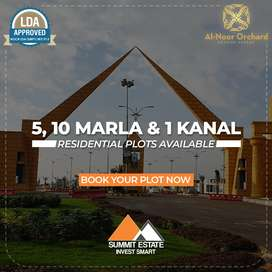 5 Marla Plot on Easy Installments, LDA Approved Al-Noor Orchard Lahore