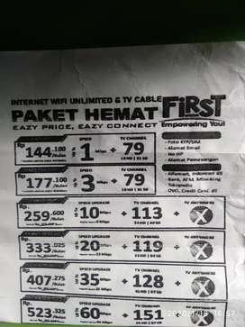 *promo pasang wifi dan tv kabel first media*
