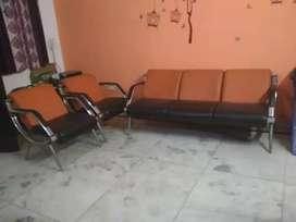 Steel Sofa Set - 5 seater (Negotiable)