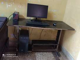 16 months old Computer with DvD rider and computer Table