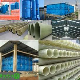 STP, Chemical Tank, Dry/Wet Scrubber, Clariefer, Roof Light FRP,