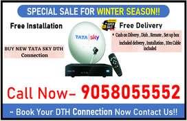 Tata Sky New HD Setup Box All complate installtion All India Free Cod.