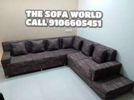 Prada collection elegant looking 6 seater sofa with cushions
