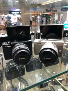 Canon eos m100 Kit 15-45MM 2nd Display mulus lengkap Ori xa3 xa5 m10