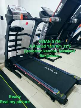 Alat fitness termurah treadmill listrik auto incle 2hp