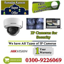 IP/Network Based CCTV Cameras and NVR (All Types Available)