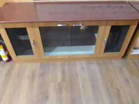 Tv table with granite stone