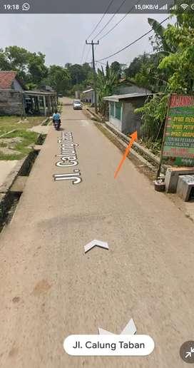 Dijual tanah 250 m2 pinggir jalan Raya Calung Taban deket stasiun Daru