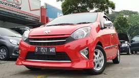 Toyota Agya TRD 2015 Merah Siap Pake Bagus