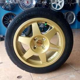 Paket velg dan ban R15 GT Champiro SX2 bisa untuk Brio Agya Ayla Jazz