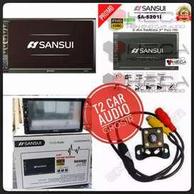 SANSUI 2DIN ANDROID LINK 7inc+camera hd harga grosir surabaya