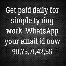 Get paid daily for simple typing work call Or whatsApp now