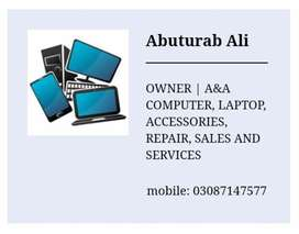 A&A Computer, laptop, accessories, repair, sales and services