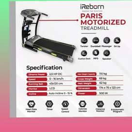 treadmill elektrik paris automatic incline ireborn H-90