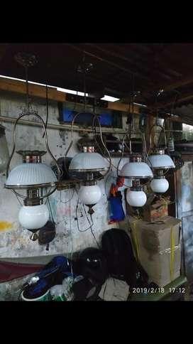 Lampu hias gantung klasik antik untuk pendopo rumah joglo lawasan