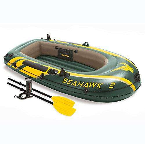 Seahawk 2 Inflatable 2 Person Floating Boat Raft Set 3 0
