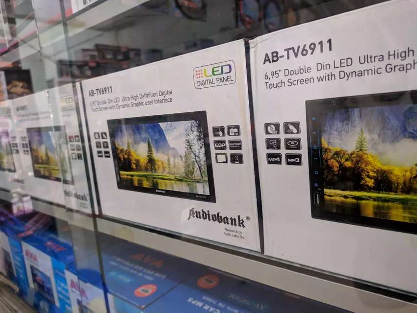 TV mobil double din Audio bank full glass dan kamera mundur 0