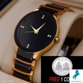 Watch With FreeSilver Coins)Men WatchesAttractive/(Free Home Delivery)