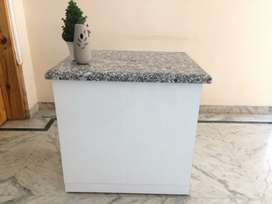 2 Office / Clinic tables  (plywood) with Granite tops for sell
