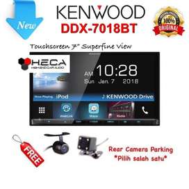 KENWOOD DDX-7018 Head Unit Double din Tape Audio Mobil | FAJAR MOBIL