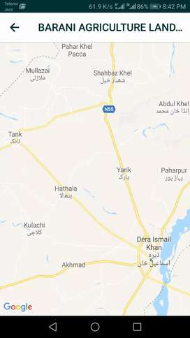 Barani Agriculture land for sale at hathala in dera ismail khan