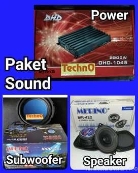 Paket sound Merino speaker power subwoofer harga grosir for tv tape