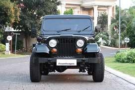 Jeep CJ7 Spirit Green 1981 BPKB Biru Antik Full Aksesoris Mesin Asli