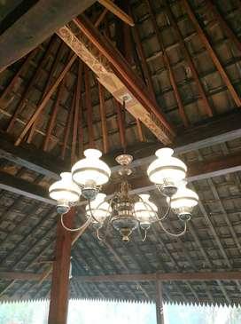 lampu gantung hias antik kuningan asli dekorasi lampu lawasan