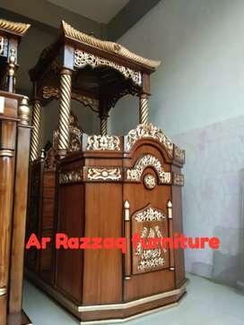 Mimbar kayu jati Ar Razzaq -092