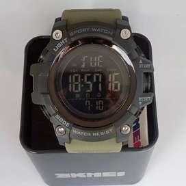 SKMEI 1384 ArmyGreen ORIGINAL waterresist jam tangan malang free cod