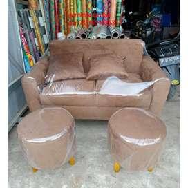 Promo harga sofa sntai 2stoll tnpa meja