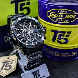 Jam Tangan pria rantai T5 H 3636 100% Original