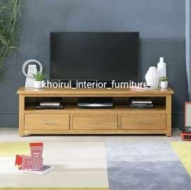 Meja tv material solid kayu jati .