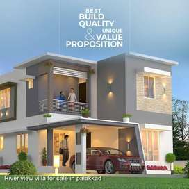 3 BHK Luxurious river view villa for sale in palakkad town in 5 cent