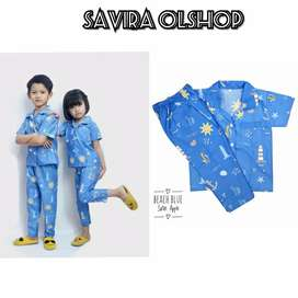 IZA Piyama Anak Size XL Umur ( 4 / 5 th ) BEACH BLUE price : 2