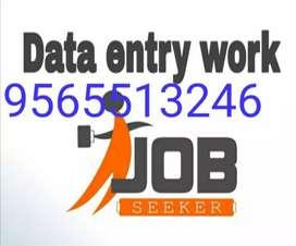 Good home based job data typing work