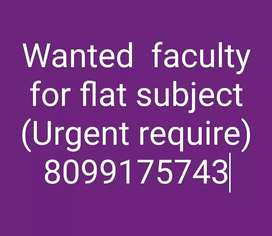 Wanted faculty  for flat subject (cse)