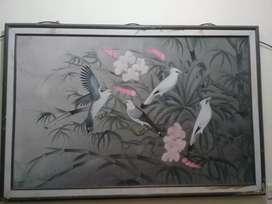 Lukisan lawas karya ketut bali ukuran besar