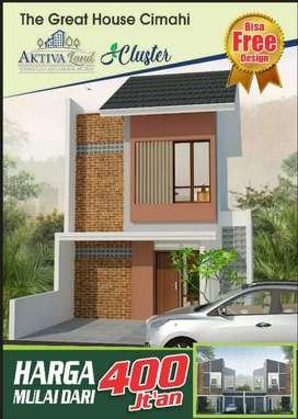 Rumah murah 2Lt indah dekat Cibabat Cimindi Cimahi, jalan Budi Bandung