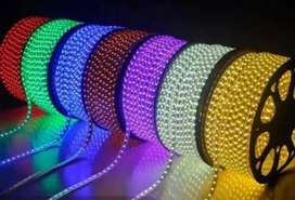 Rope light Available in different colours 160 per meter