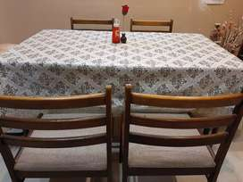 A 6 sitter dining table