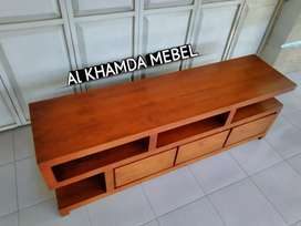 Ready Buvet Tv Minimalis Bahan Kayu Jati Monggo @684