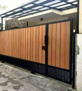 Pembuatan pagar minimalis