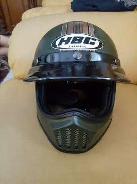 Helm Cakil HBC Army Motif LIKE New Banyak Bonus