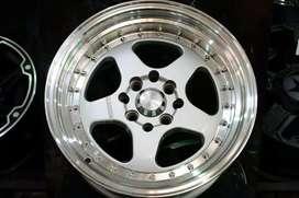 Velg mobil racing ring15×8-9 BRUn HSRwheel dobel pcd 8×100-114,3