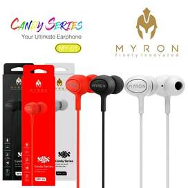 Headset Myron MY-01 Candy Series solid Bass in earphone