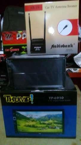 Paket Tv Double din+Antena tv booster+Camera Parkir+Psang